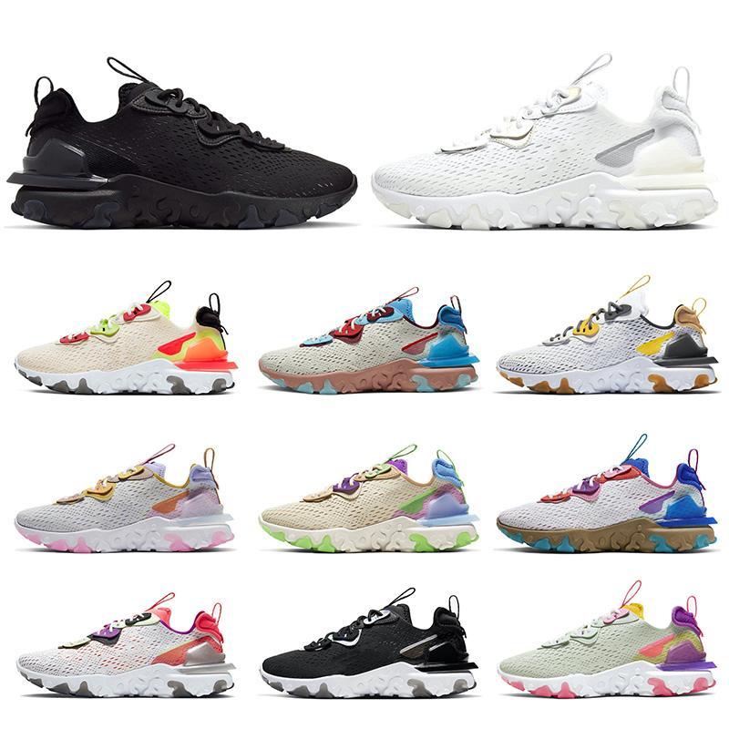 Nike React Vision Epic react element 55 87 off white Hot Selling Stock x Damen Herren Laufschuhe Triple weiß schwarz Vision Photon Dust Turnschuhe Turnschuhe