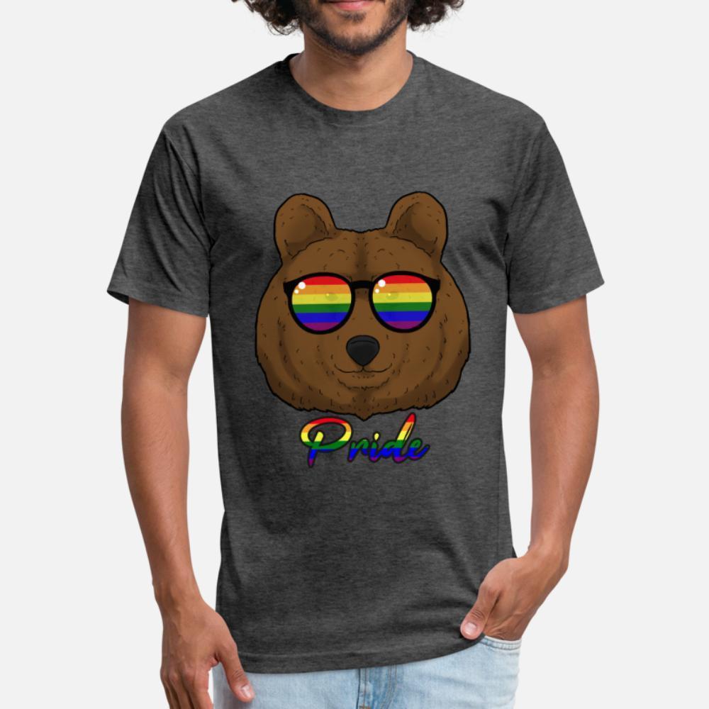 Gay do orgulho do urso Lgbt Urso Gay Pride arco-íris homens camiseta personalizado algodão S-3xl cor sólida famosos engraçados Letters verão camiseta 100%