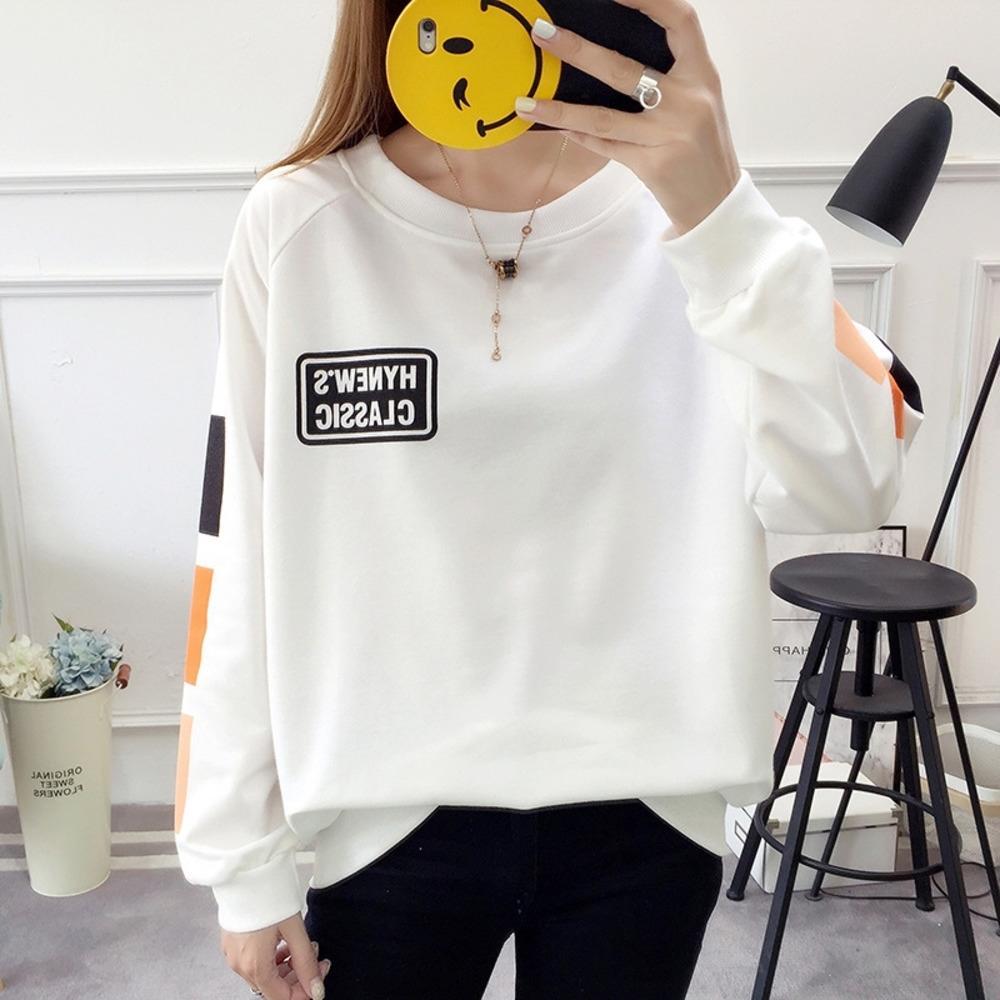 NESTP altos 2019 ins de manga larga para las mujeres Escudo suelta de algodón jersey de moda de calidad super caliente sweatersweater nueva capa de gran tamaño