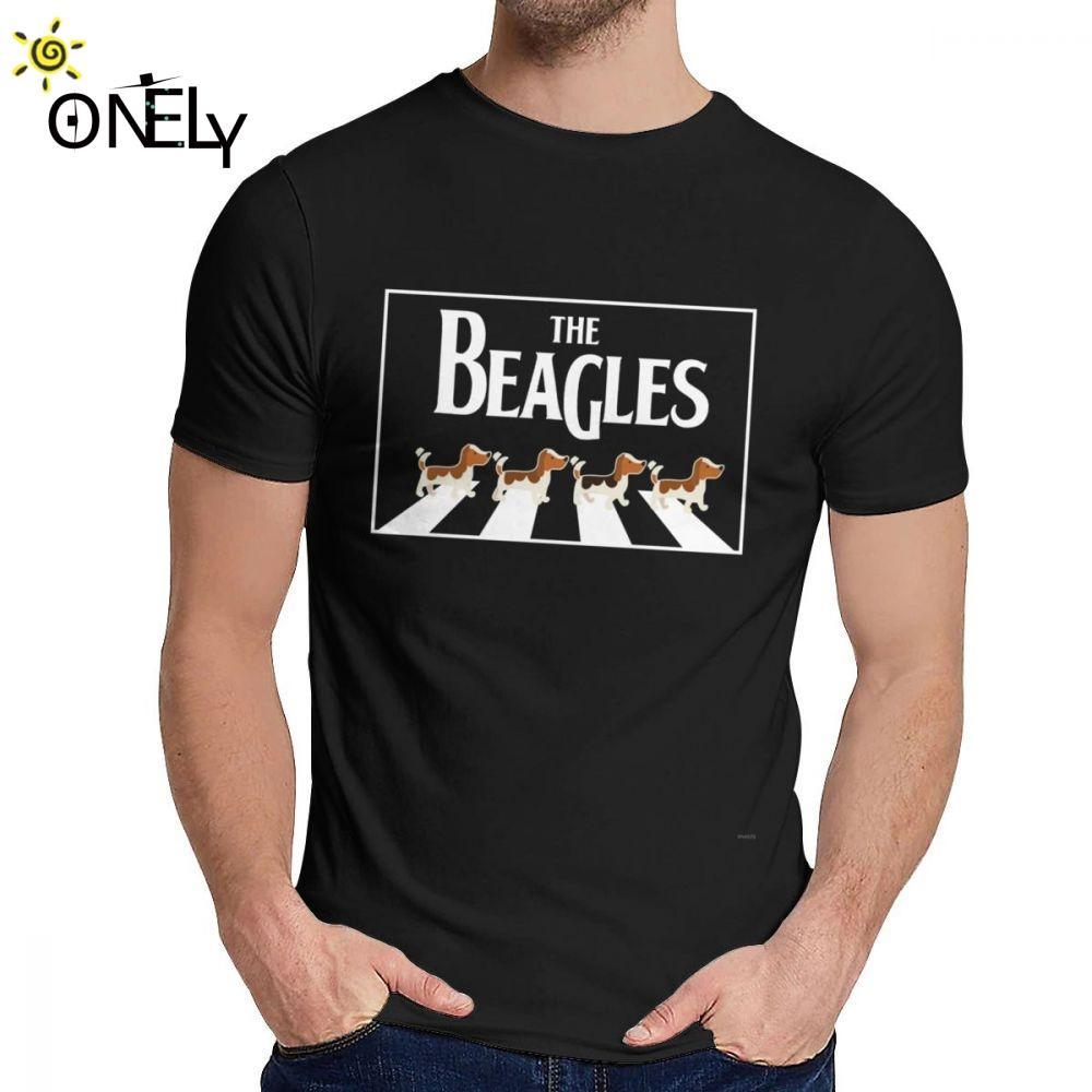 Masculino Camisetas O Beagles novidade clássico em torno do pescoço Harajuku Streetwear bonito camisetas Confortável