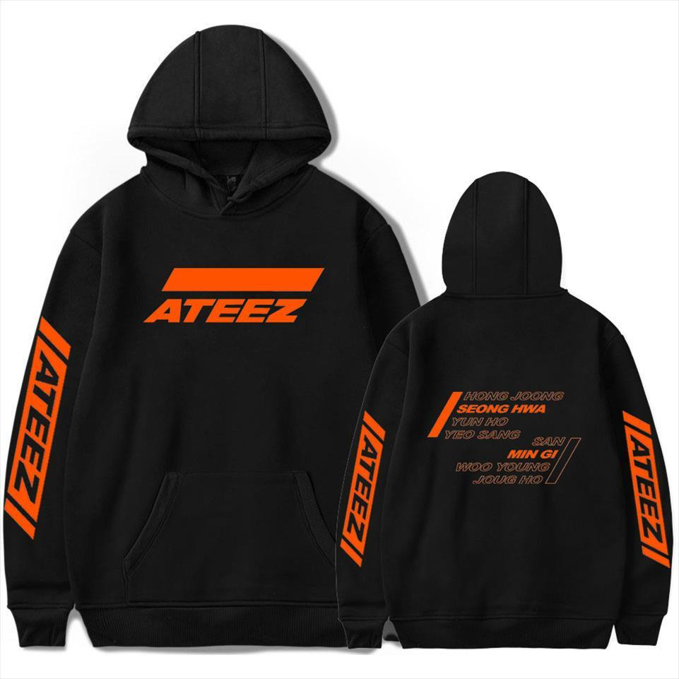 ATEEZ Kpop Sweatshirt Hoodies Men Women Fashion Korean Women Hoodie Tracksuit Fall Winter Streetwear Jacket Coat K pop Clothes