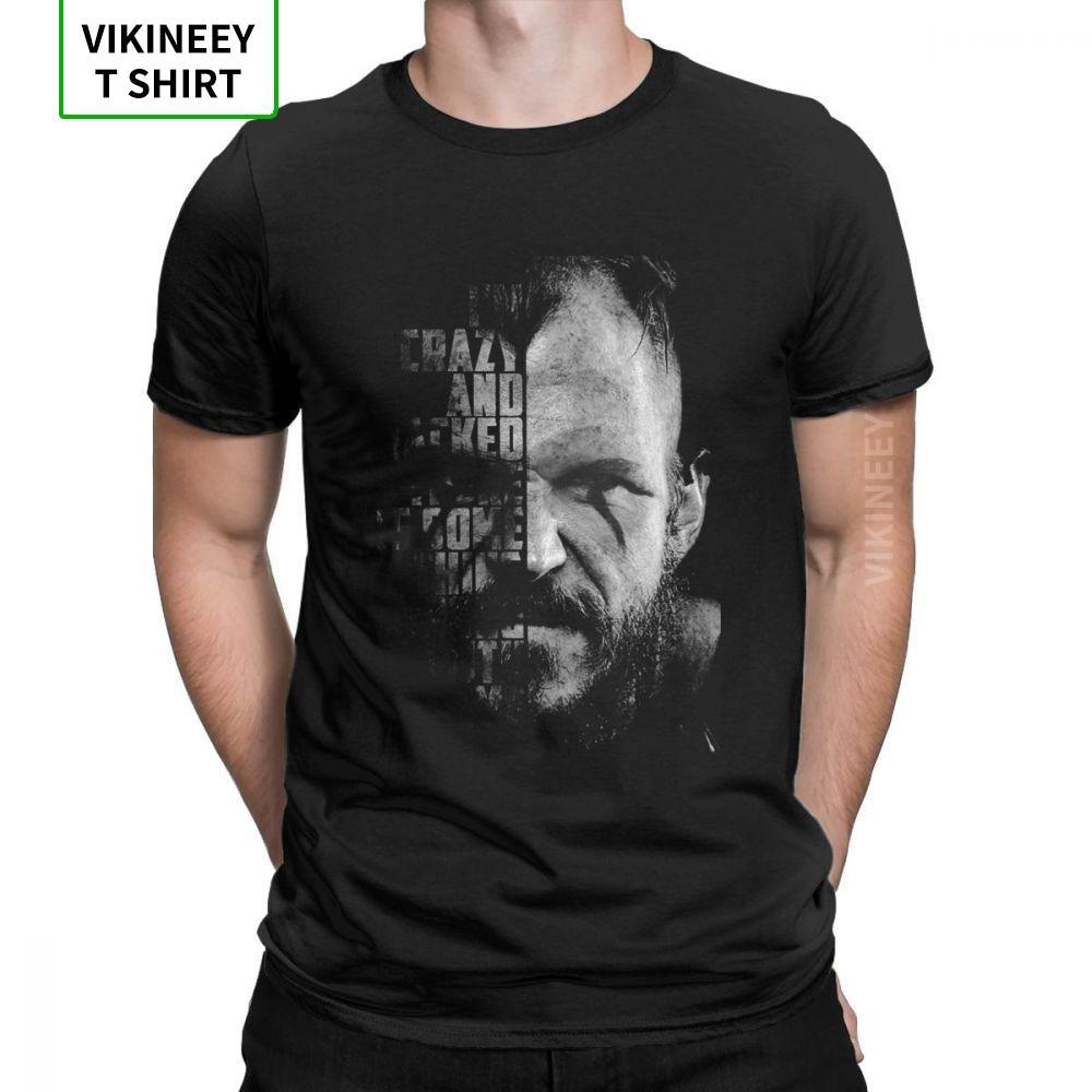 Vikingler Valhalla Floki Alıntı Odin Yenilikçi Tişörtlü İnsanın Kısa Kollu Yaz Stili Tee Gömlek% 100 Pamuk Mürettebat Yaka T-Shirt
