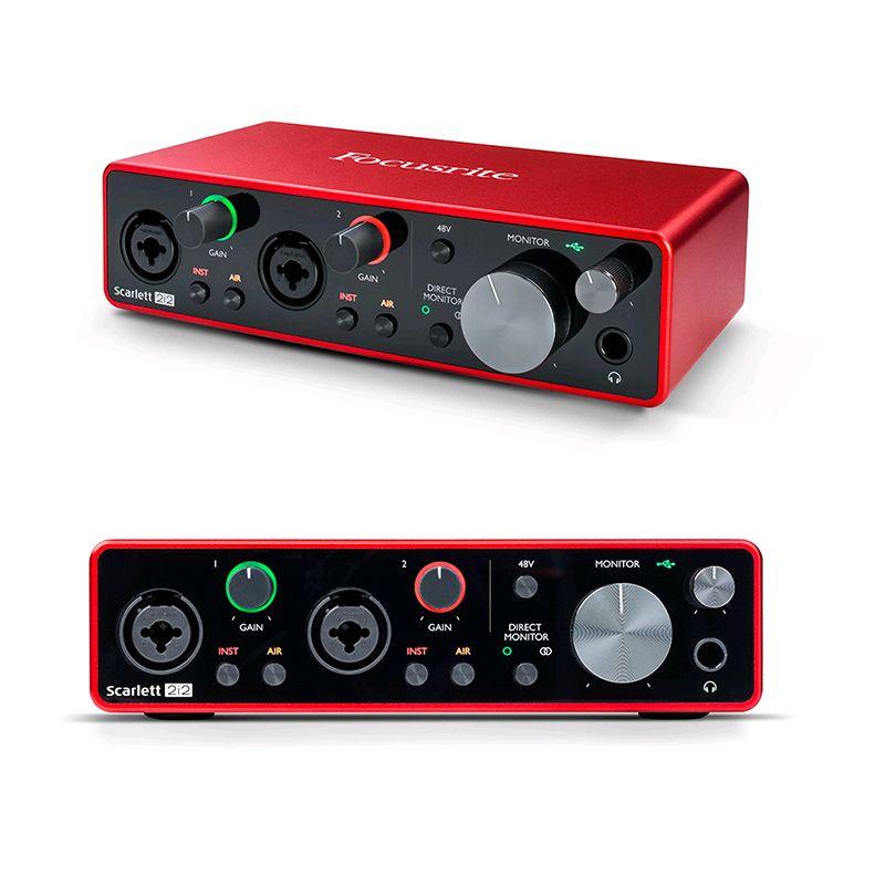 Nueva FOCUSRITE Scarlett 2i2III (3ª generación) 2 entradas / 2 salidas de tipo C USB 2.0 Guitarra grabación de audio interfaz de tipo C tarjeta de sonido libre del envío