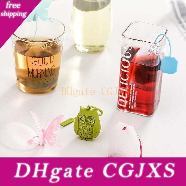 Gufo silicone Tea Strainer Carino Bustine di tè alimentari Grade allentato creativo -leaf Tea Infuser Filtro diffusore Fun Accessori Lxl870