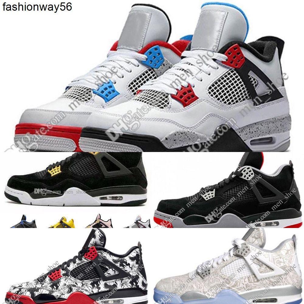 4s 4 IV Ce que le Cactus Jack Laser Ailes Hommes Chaussures de basket-ball Eminem Pale Citron Hommes Sports Sneakers Designer