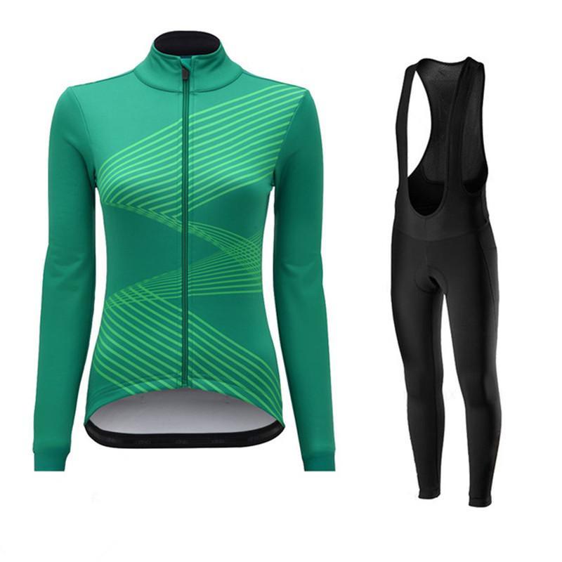 Primavera / autunno 2020 Pro Women Cycling Jersey Set femminili Bike Abbigliamento Kit da corsa vestiti della bicicletta usura del vestito Mtb Uniform Maillot