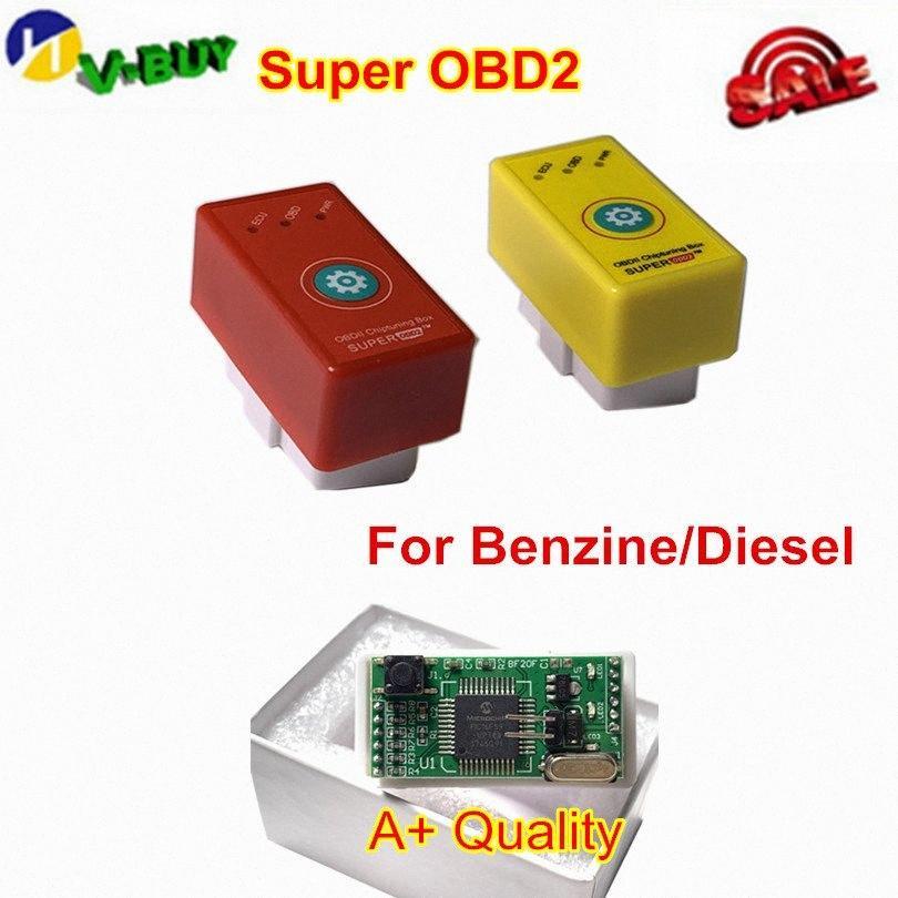 5 adet / lot Süper OBD2 Prower Prog Dizel Benzin Daha İyi NitroOBD2 Araba Chip Tuning Box Tak Sürücü Nitro OBD SR80 #