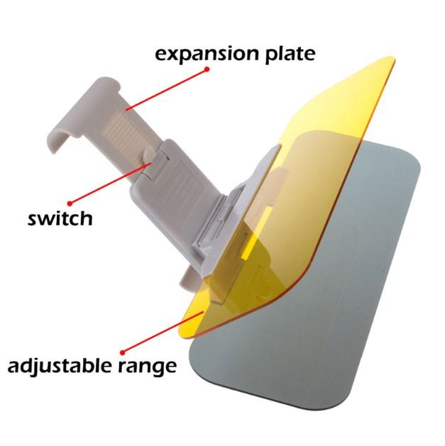 Car Sunshade Day and Night Sun Visor Anti-dazzle Clip-on Driving Vehicle Shield for View