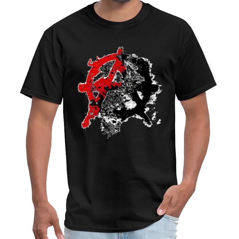 Fitness anarchie symbole physique t-shirt voyou gents tshirt distanciation sociale s-6XL naturel