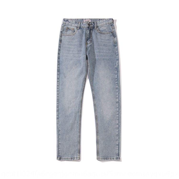 4mJaz Hosen Winter Jeans Palm blaue Palmen und Buchstabedrucken lässig Herbst New Angel Jeans der Männer und Frauen Casual Hosen Hosen