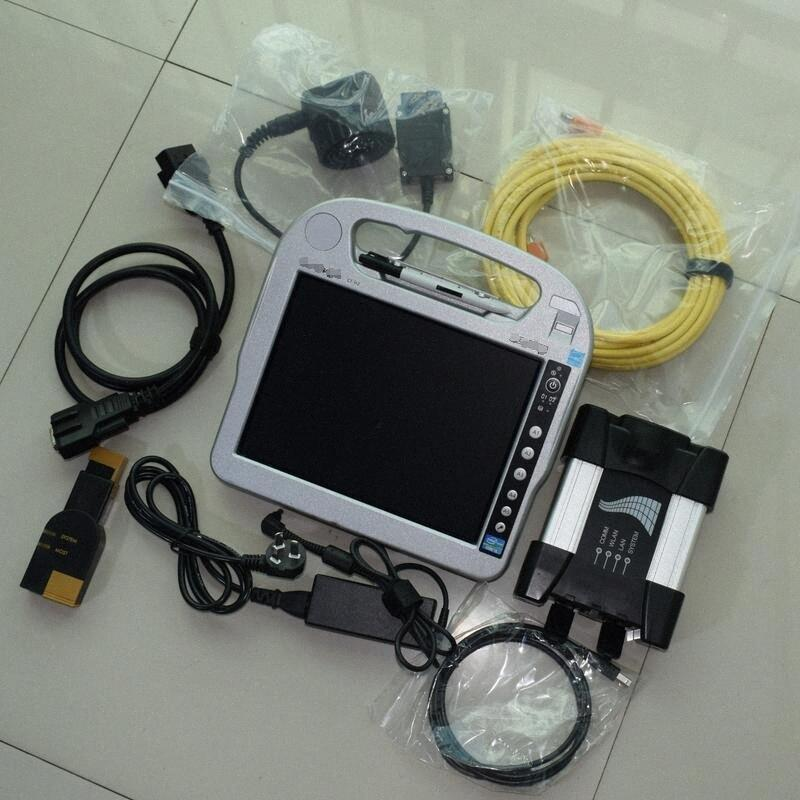 BMW ICOM 다음 i5cpu 태블릿 CF-H2 컴퓨터 터치 PC를위한 도구를 프로그래밍 BMW의 진단을 위해 RmZO 번호를 사용하는 것이 5백기가바이트 준비 HDD