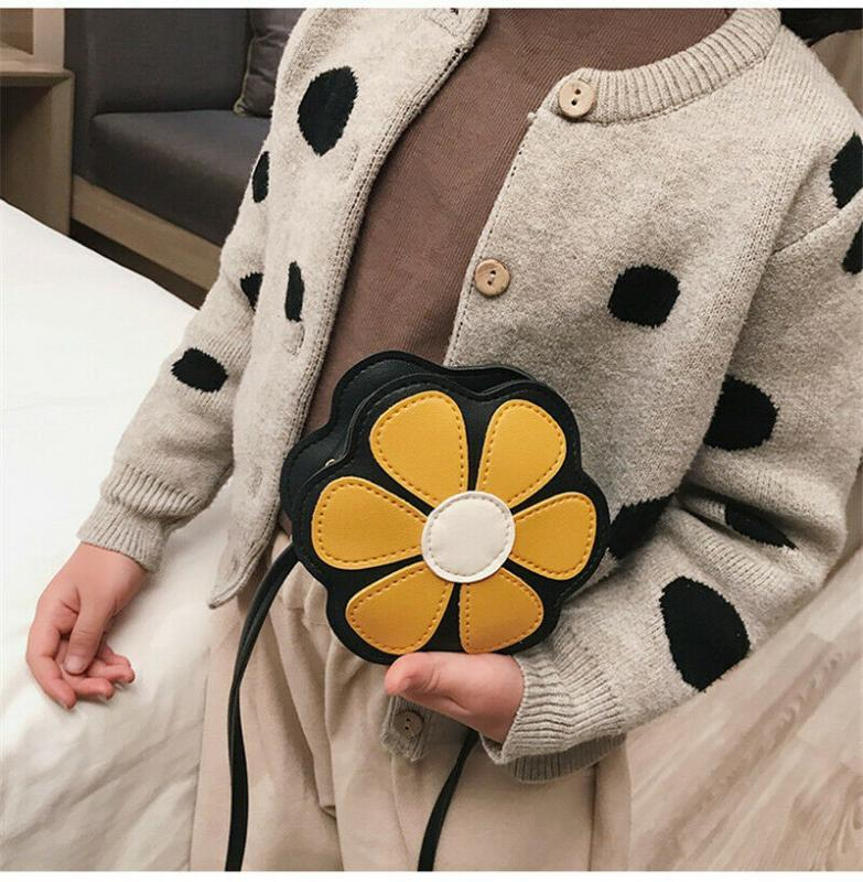 6 ألوان للأطفال حقائب وصول احدث موضة الكتف لطيف بنات طفل أطفال زهرة أكياس محفظة حمل محفظة CROSSBODY