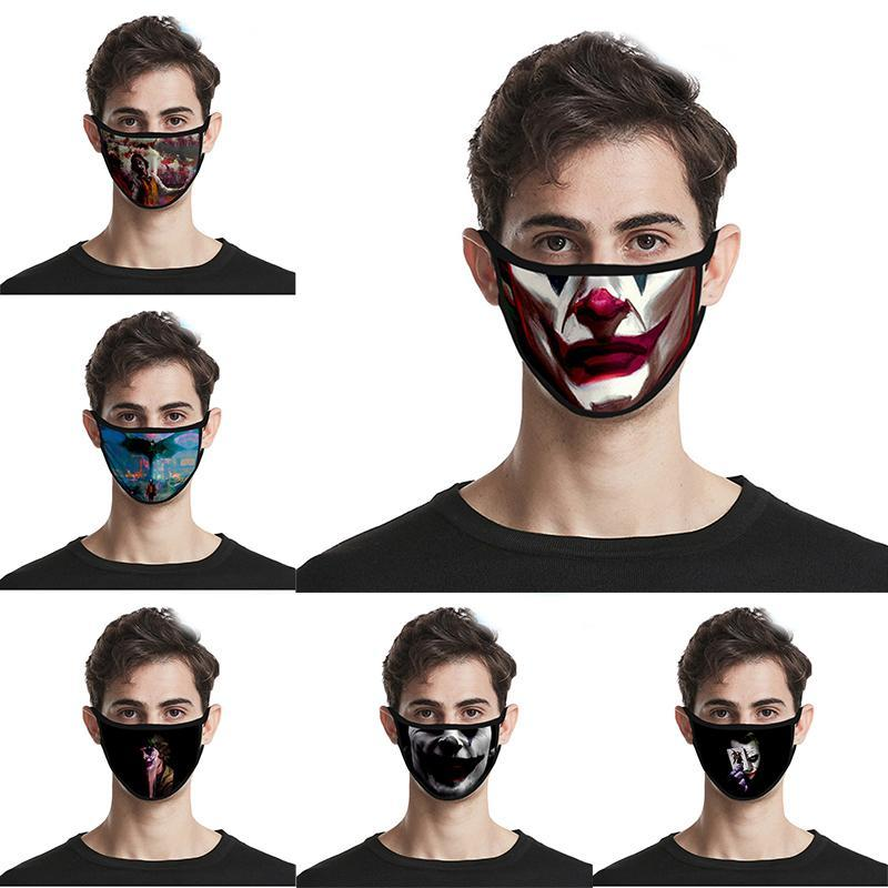 Di modo 3D stampa Joker volto Designer maschera lavabile e riutilizzabile maschere di cotone filtranti maschere traspirante