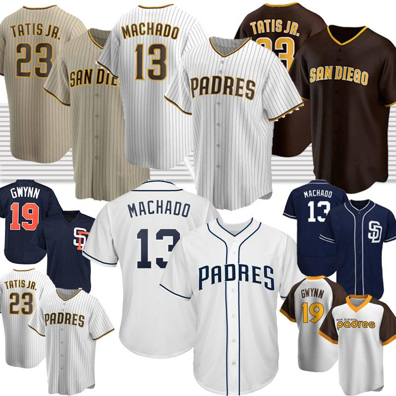 23 Fernando Tatis Jr. San Diego Padres baseball maglie 13 Manny Machado 19 Tony Gwynn retrò personalizzato 2020 Nuova stagione Jersey