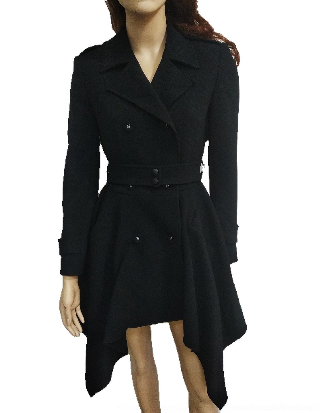 Htbd0 0Rgn2 e Windbreaker l'autunno High-end d'inverno cappotto nuovo di lunghezza media di riparazione modo del cappotto dimagrante trincea delle donne irregolari 2020 giacca a vento