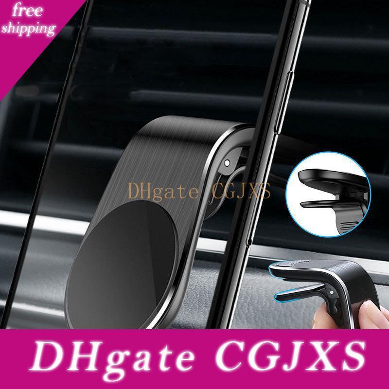 Magnética universal titular del teléfono del montaje del coche mini salida de aire del soporte del montaje del clip de imán móvil para teléfonos inteligentes Dhl