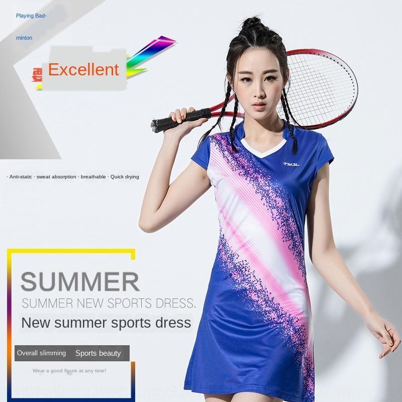 Yeni moda spor spor Badminton giysi spor tüy elbise golf topu takım elbise 1666 elbise Voleybol elbise