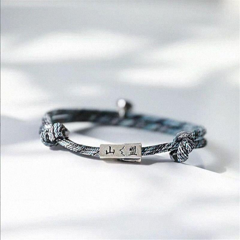 Aşk Halat Bileklik El Dokuma Manyetik Çift El Aksesuarları HIYONG Knot Bileklik Aşıklar Shanmeng Yemin Femmes Bijoux RzxD # dökün