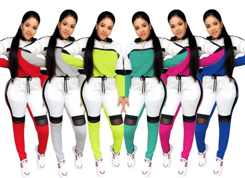 Womens clothing long sleeve hoodie outfits 2 piece set women tracksuit jogging sport suit sweatshirt autumn leisure suit klw2290