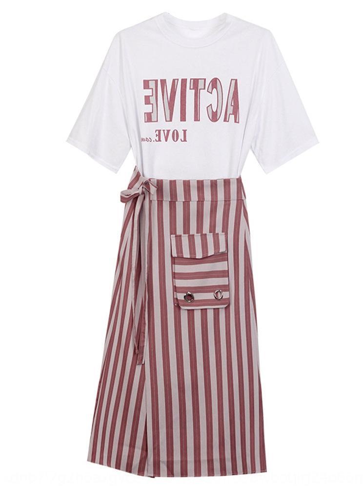 WXKC9 Sommer Größe Frauen 8nkOA Anzug Rock Kleidung westlicher Schlankheits etwas Fett Schwester zweiteiliger Anzug Rock Fett mm2020 neuer Stil