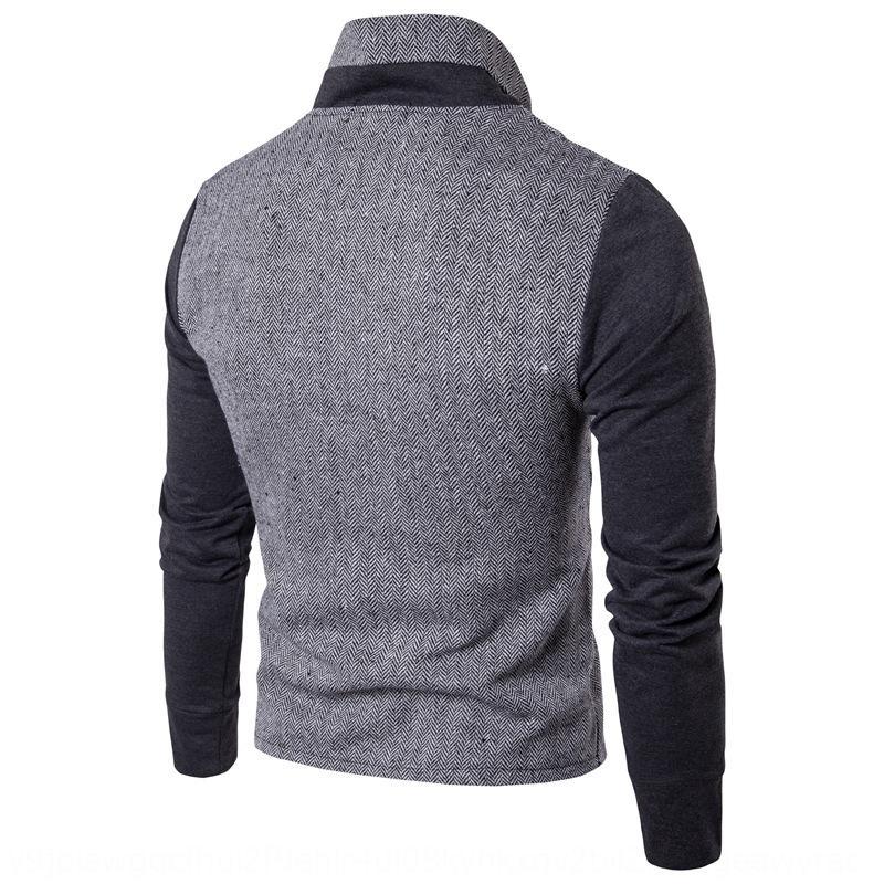 cardigan disponíveis colar cor terno bloco camisola painel camisola fina de mangas compridas posição dos homens revestimento dos homens XPbMx perene outerwear
