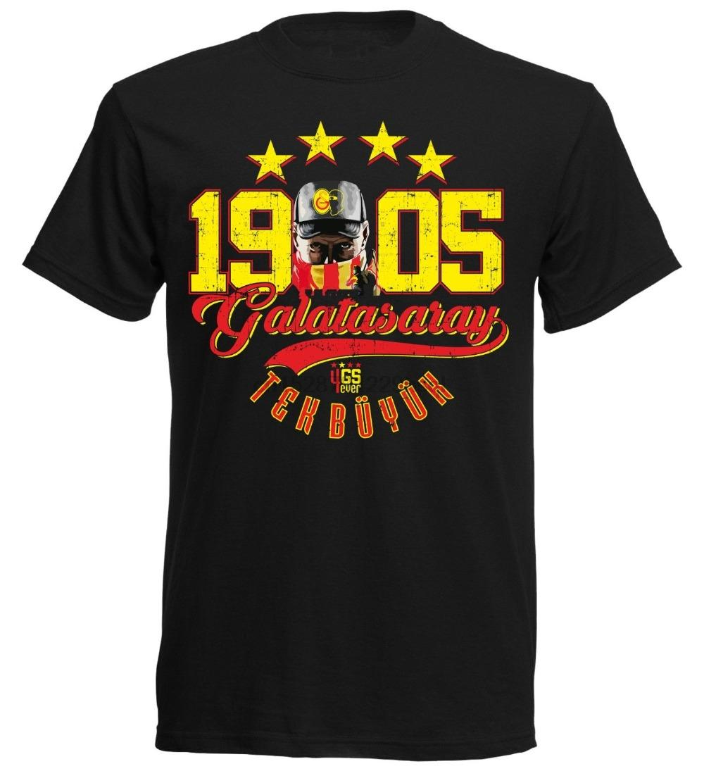Manica corta moda Galatasaray T-shirt Meister xx 052 scellini Istanbul Fan Sampiyon 4 Yildiz 1905 T-shirt
