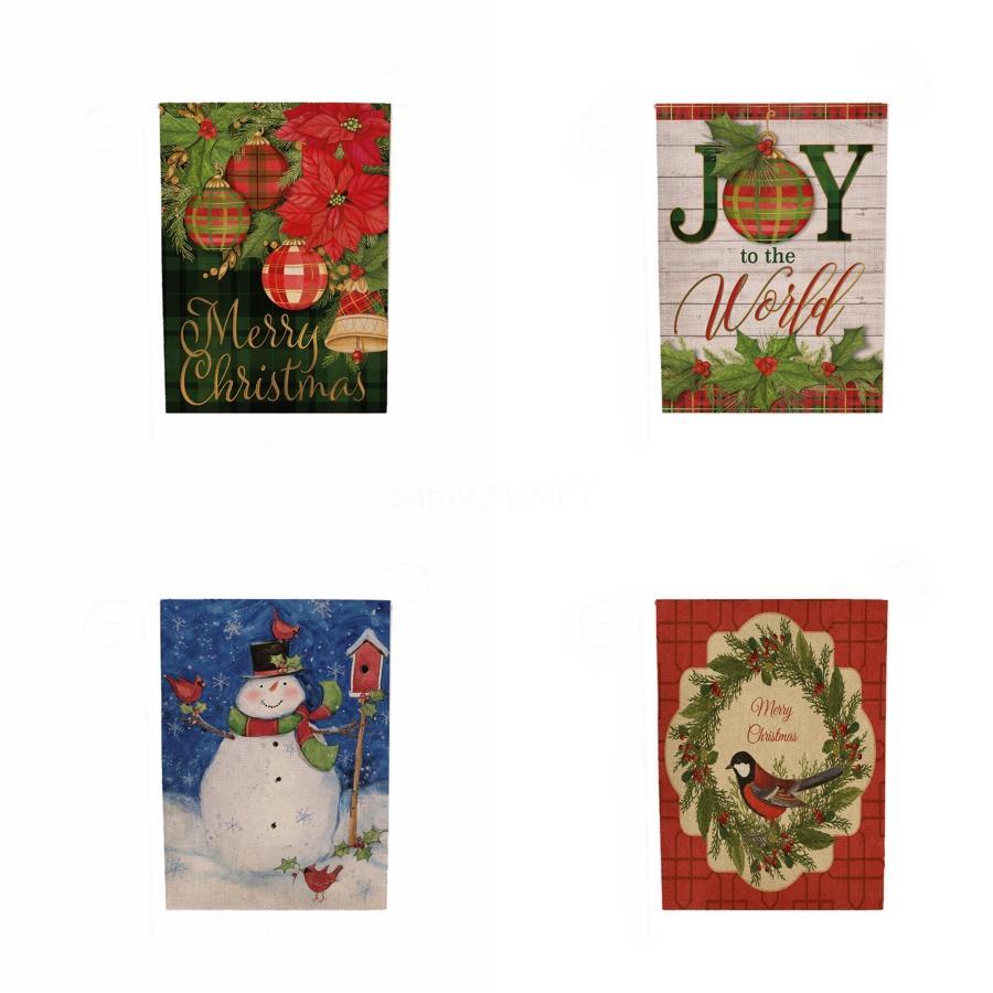 Flocos de neve rena Banners Pull fechado Presentes de Natal barbante pendurado Partido Flag Paper Rodada decration # 612