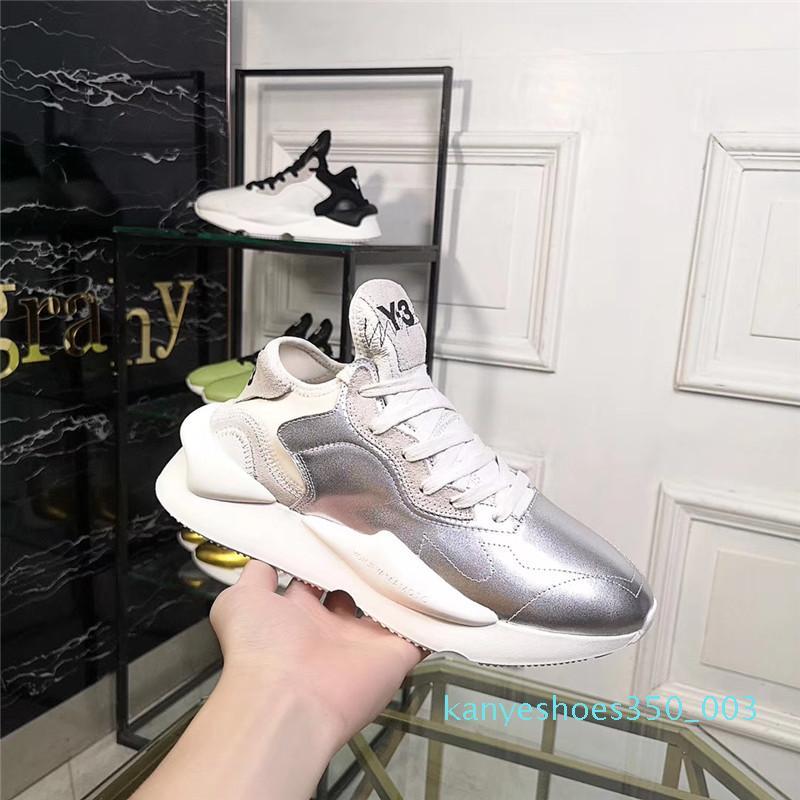erkek koşu ayakkabıları 2019 moda Spor makosenler kadın erkek hakiki deri Sneakers rayları Y3 yeni varış eğitmenler Y3 k03
