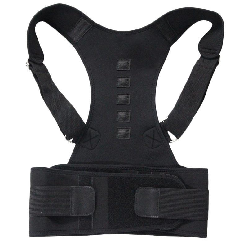 Magnetic spalla Terapia del correttore di posizione posteriore della cinghia di sostegno per gli uomini Women Size L