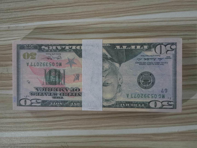 Dollaro caldo di vendita soldi falsi Film Prop 50 dollari banconota Conteggio Giochi Prop denaro festivi del partito Collection Gifts A50 10
