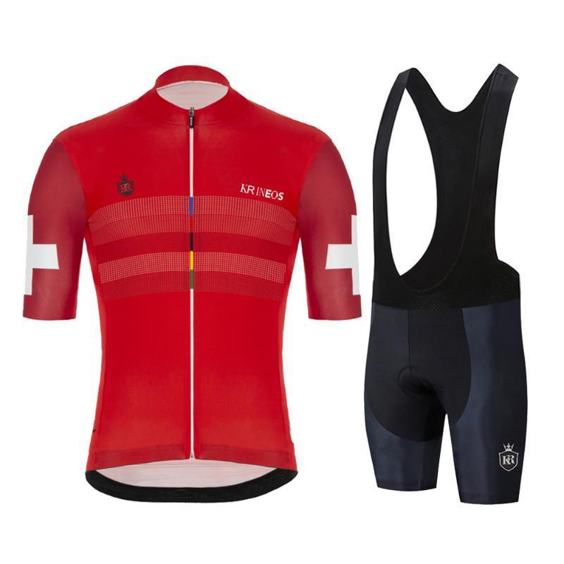 Tuta Nuovo vestiti di riciclaggio Raphaful Rcc Jersey Set maniche corte uomo Uniforme Smith Team Road Bicicletta Formazione usura di estate