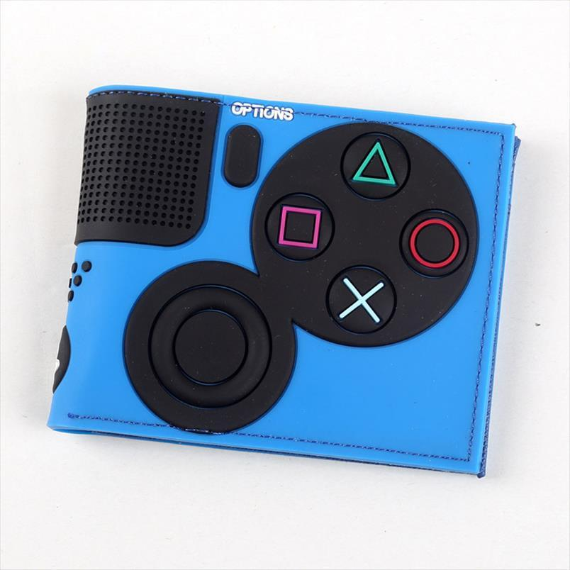 Jeu Poignée PlayStation Cool Touch Portefeuille Plongez et Super Portefeuilles PVC Men Purse BI 3D HCHQH