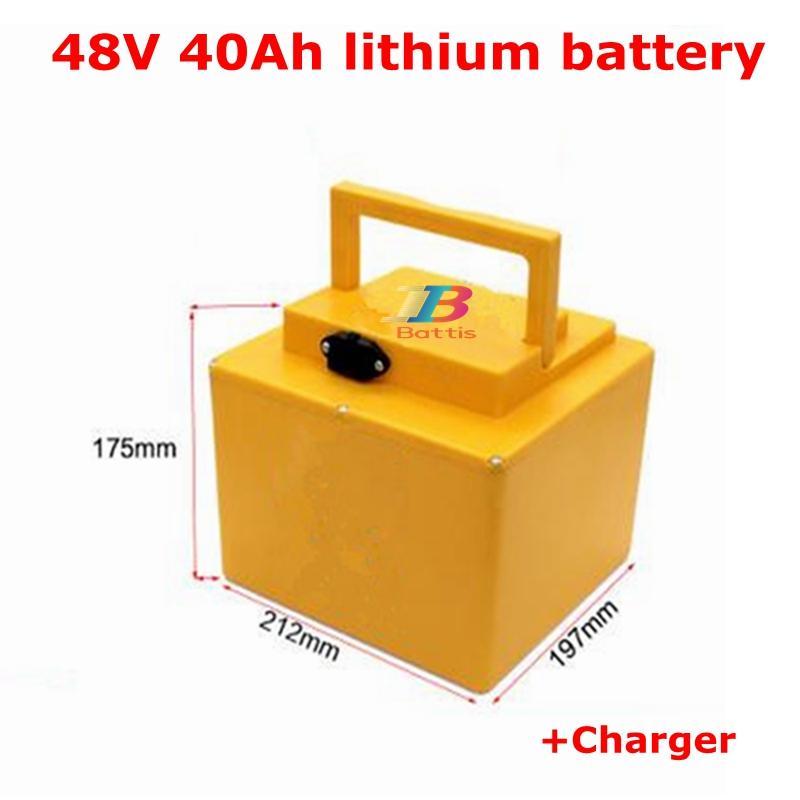 48V 40Ah Li-Ionen-Akku 48V 50AHLithium Bateria für Solar-Straßenlaterne Motorrad Autobike-elektrisches Fahrrad + Ladegerät