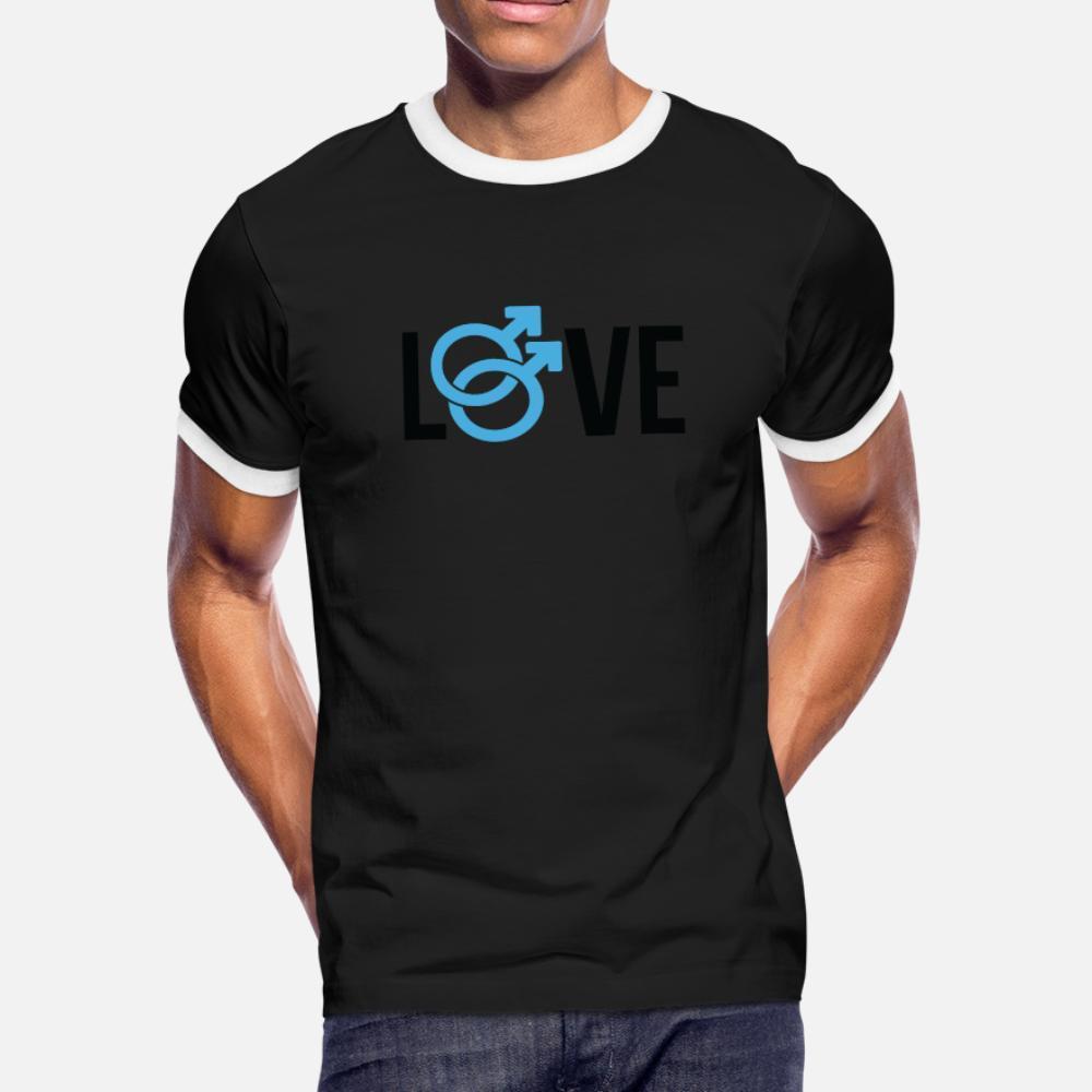 Homossexualidade Gay camiseta homens impressão de algodão rodada Luz Solar Carta Neck New Style Primavera Outono original da camisa