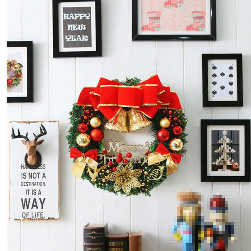 Венок Рождественская елка Украшения Семейный отдых вечеринка украшения стены праздник атмосфера венок украшение четыре цвета OOA9164