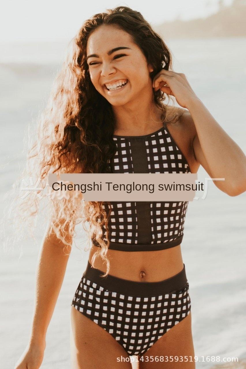 RHPx3 Badeanzug 2019 neue Bikini-Hosentasche Bikini einteiliger hohe Taille KgS0I Internet Berühmtheit koreanische Sport multifunktionales Badeanzug