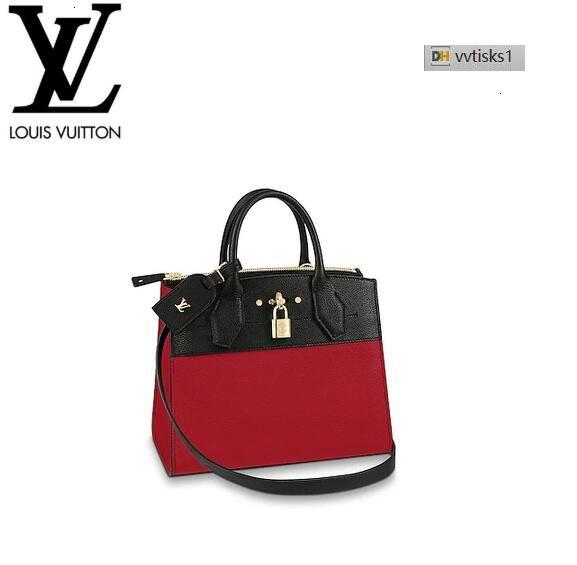 vvtisks1 ABBY M54868 City Steamer PM Noir Rouge Women HANDBAGS ICONIC BAGS TOP HANDLES SHOULDER BAGS TOTES CROSS BODY BAG CLUTCHES EVENING