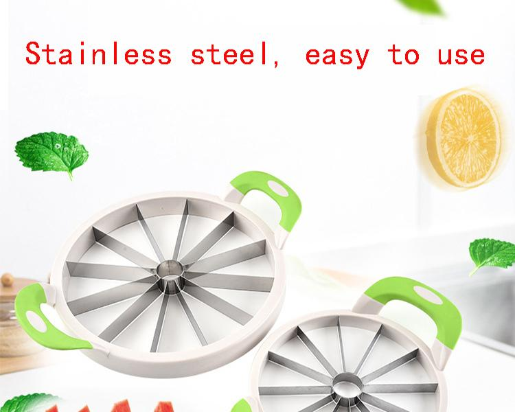 Stainless Steel Watermelon Slicer Cutter Knife Corer Watermelon Tools Cutting Cantaloupe Fruit Slicing Machine Free DHL