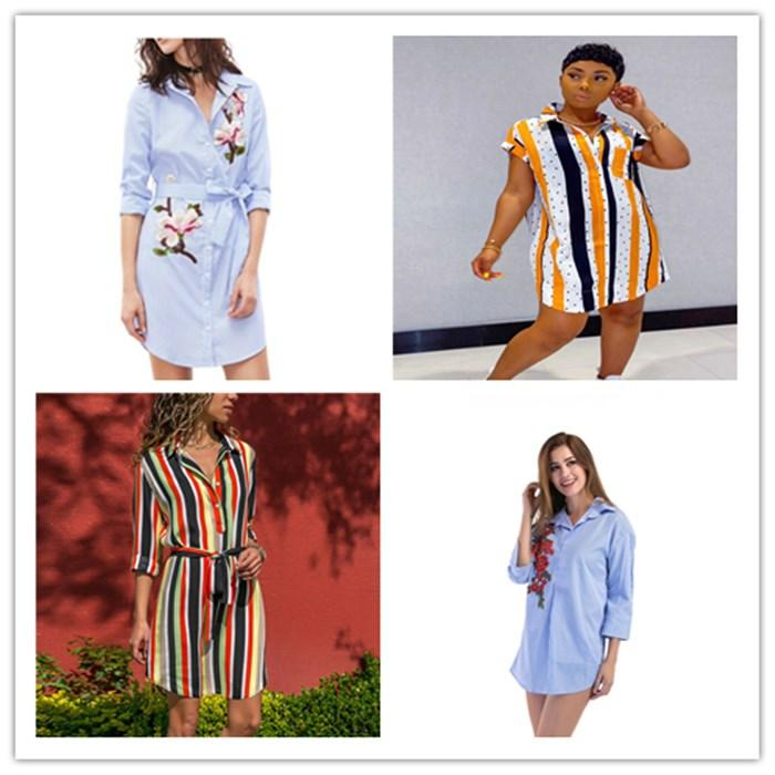 2020 Womens Designer Rose Embroidery Shirts Women Striped Plus Size Spring Fashion Blouses Woman Lapel Neck With Long Sleeve Shirt From Gucooldesigner 13 89 Dhgate Com