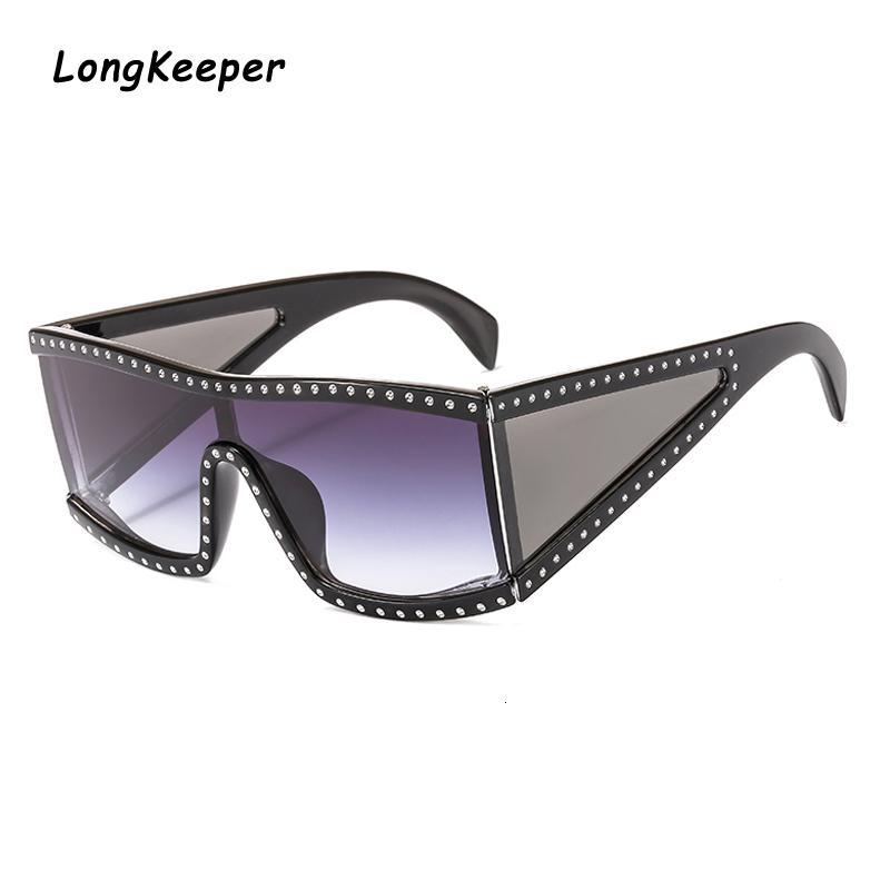 Женская мода солнцезащитные очки Lady Большая рамка Градиент Солнцезащитные очки Путешествия вождения UV400 украшения Sunglass óculos де золь