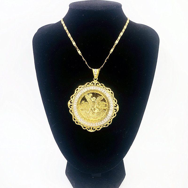2020 المصوغات للرجال 14K الذهب مطلي سترة المعلقات قلادة الرجال قلادة سلسلة لقلائد مجوهرات المفاتيح الكبيرة المعلقات القلائد DIY