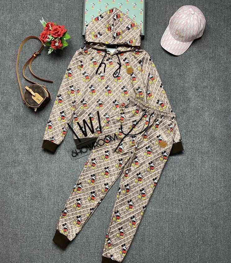 2020 Autumn leisure pure cotton women's sportswear suit two-piece brand sweater M--XL