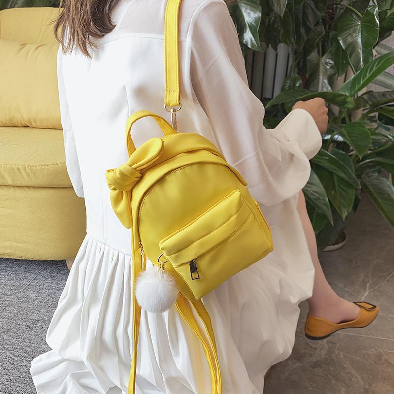 Moda 2020 Bags Backpack Mulheres formal da escola para adolescentes Backpack Feminino Nylon Malas de Viagem Meninas bowknot Mochilas