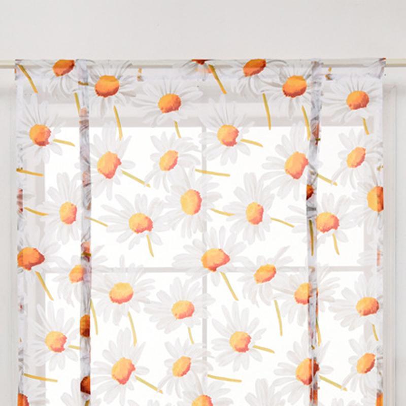 120 * 140 cm Rideaux Fleur imprimée à Sheer Rideau moderne Salon Chambre Fenêtre Tulle Drapé Valance Home Décor DBC DH0899-7