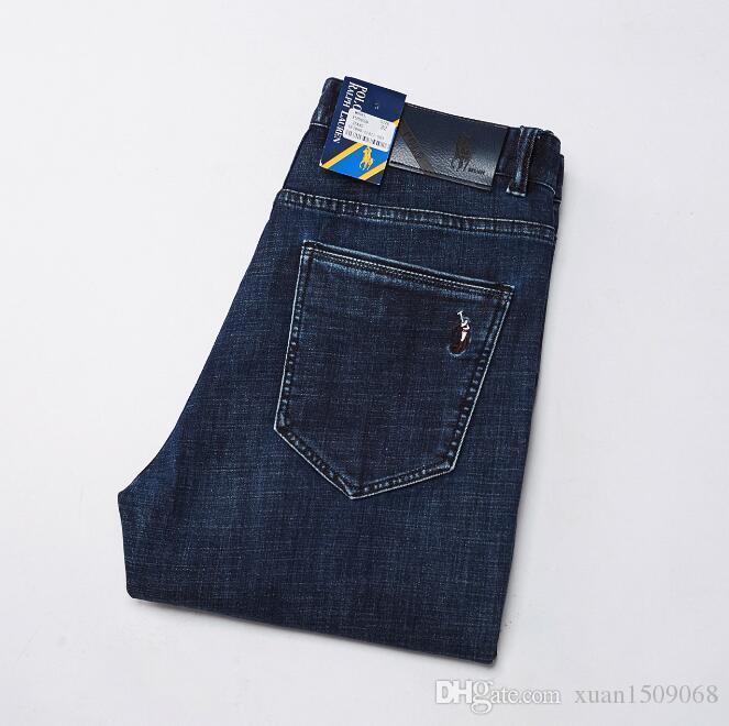 Nuevo otoño / invierno 2020 pantalones vaqueros de comercio exterior de la pierna recta pantalones de hombre delgado y de tamaño grande