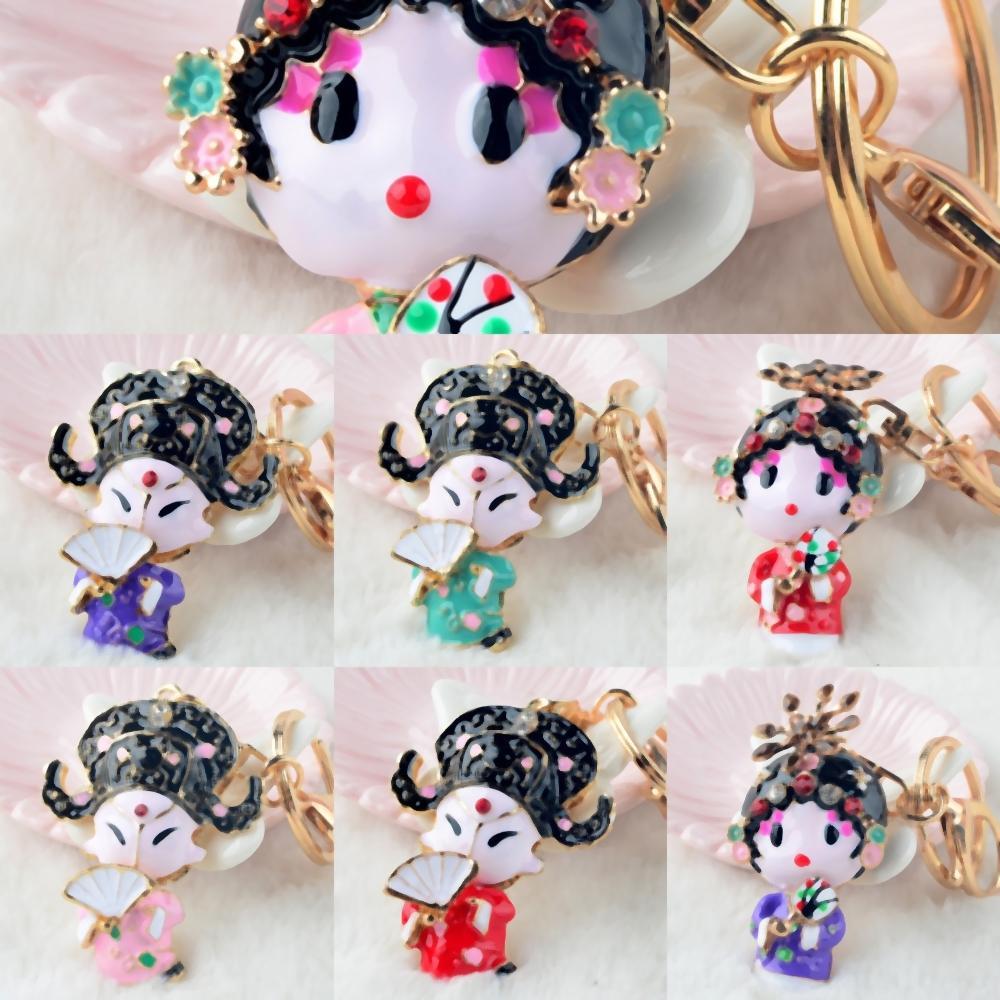 Vh3tm bonito branco estilo chinês Keychain dramas personalizado DIY Carving Keychain gravado de madeira Opera Retângulo Quadrados Coração Forma k