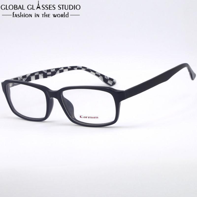 D002 Ultralight Uomo Donna Moda Telaio Occhiali / Bianco Nero a strisce eyelasses per gli studenti