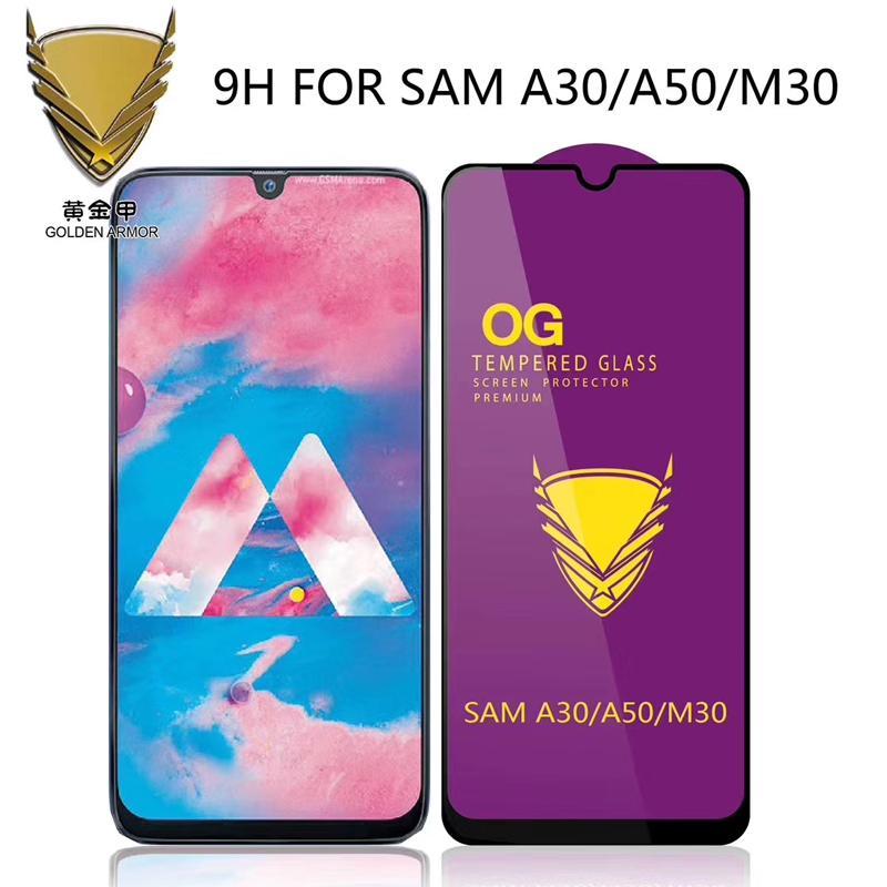 Armure d'Or OG Big courbe pleine colle en verre trempé protecteur d'écran pour Samsung A20E / A260 / A320 / A520 / A720 / A5 2018 / A6