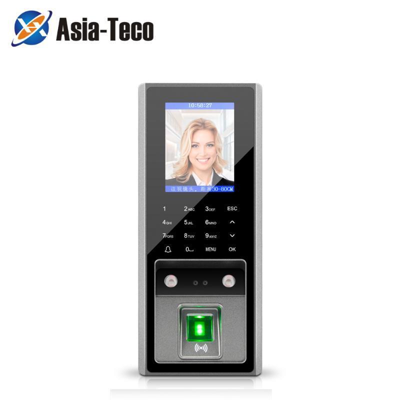 Sistema de reconhecimento facial 300 pcs faces / 3000 Figners 2.8inch LCD TCP TCP Biométrico Fingerprint Facture Access Access Access Device Support