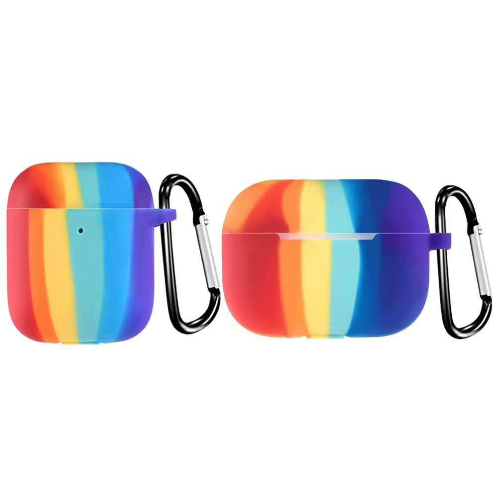 Earphone Protective Case for Rainbow Case For AirPods pro Case Silicone Cute Funda For Airpods Cover